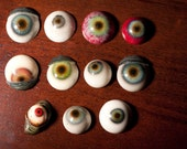 Creepy hand painted horror eye ball super strong fridge magnets