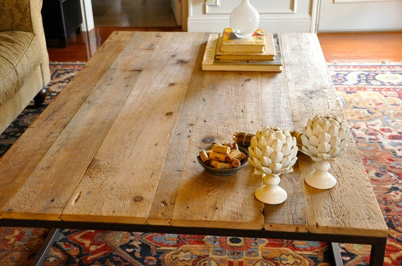 the HOLMES Coffee Table - Reclaimed Wood and Iron