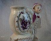 Vintage Victorian boy Vase