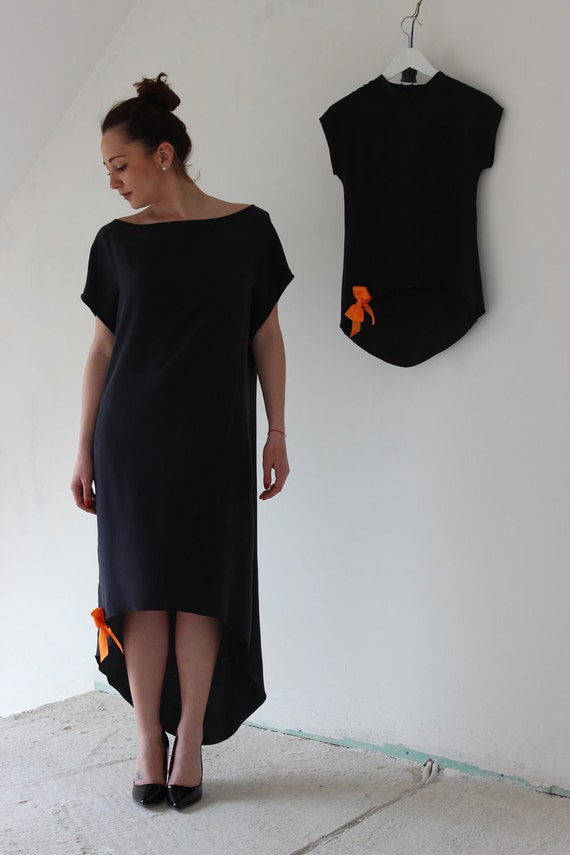 "A silk dress ""Graphite"""