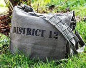 The Hunger Games Inspired - DISTRICT 12 - Military Messenger Bag
