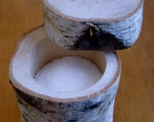 Handmade Birch branch salt holder