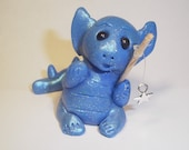 Childrens blue dragon cake topper collectable  ornament