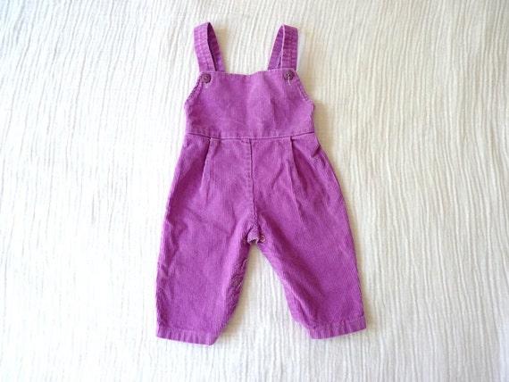 Vintage overalls, 3 to 6 months. Corduroy Purple/megenta. SUPER CUTE