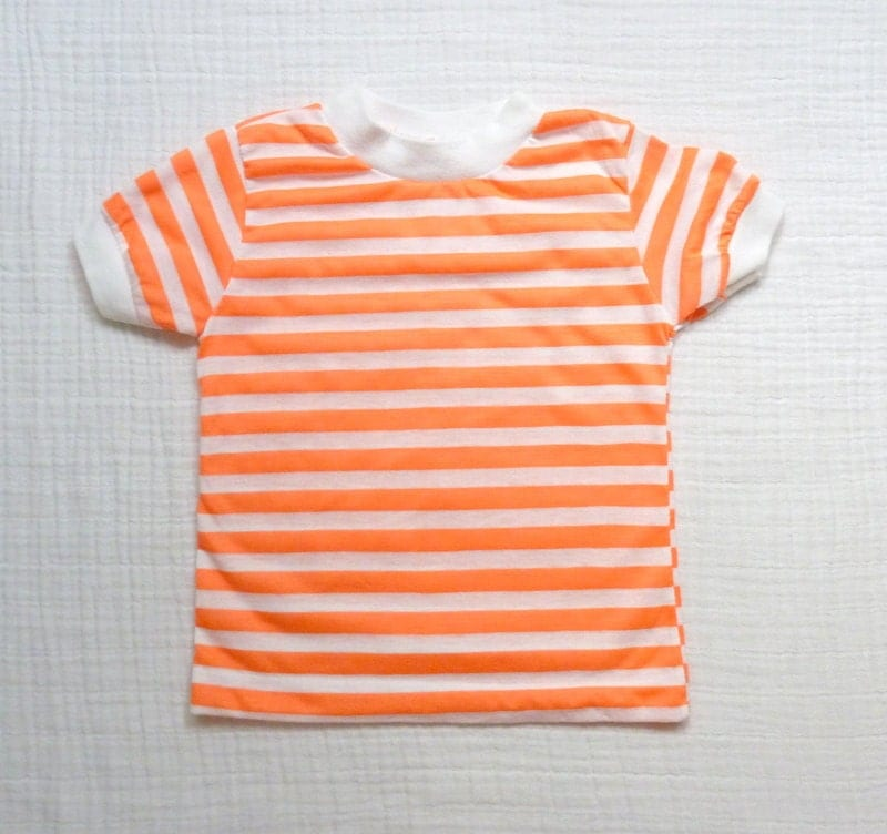 Neon vintage toddler t-shirt 3T. Neon orange and white