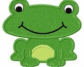 Instant Download Frog Applique Machine Embroidery Design NO:1121