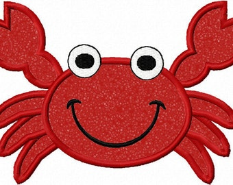Instant Download Crab   Applique Machine Embroidery Design NO:1134