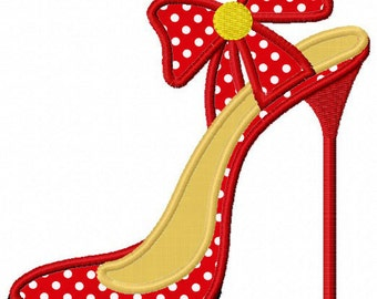 Instant Download High heel  Applique Machine Embroidery Design NO:1147