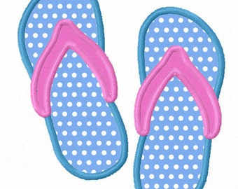 Instant Download Flip Flops  Applique Machine Embroidery Design NO:1156