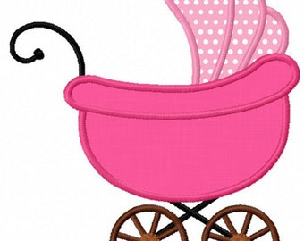 Instant download Baby Carriage Applique Machine Embroidery Design NO:1158