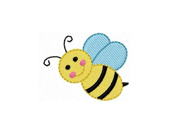 Instant Download Bee Mini Filled Stitches Machine Embroidery Design NO:1161