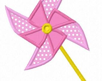Windmill  Applique Machine Embroidery Design NO:1181