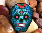 Dia de los Muertos Tattoo Sugar Skull Large Ring