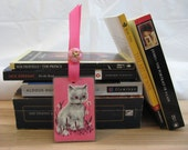 Vintage Playing Card Bookmark with Kitten (10)