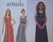 Simplicity 8515 Artworks Pattern for Misses' Dress or Jumper and Knit Top in Sizes 14, 16, and 18