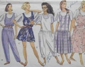 "Vintage 1989 Butterick 3929 ""Classics"" Very Easy UNCUT Pattern for  Misses' / Misses' Petite Jumper, Jumpsuit and Top Sizes 6 - 14, XS-S-M"