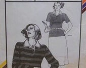 Vintage 1979 Stretch and Sew 301 Pattern for Women's Rugby Shirt Designed Exclusively for Knit Fabrics by Ann Person