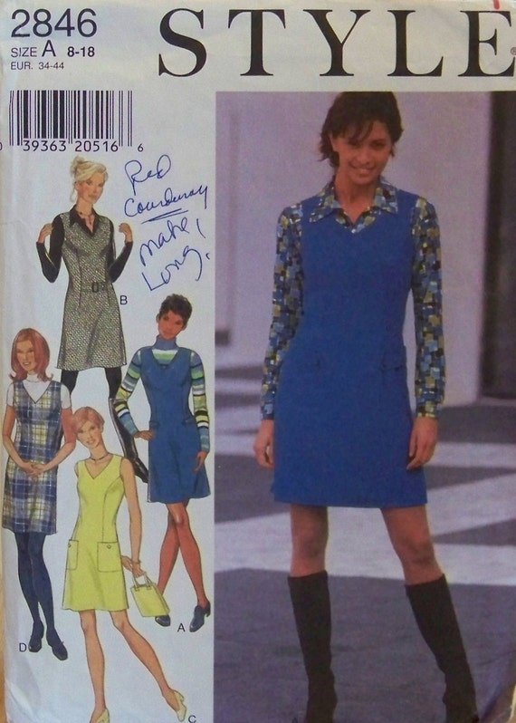 Style 2846 Pattern for Misses' Jumper or Dress in Sizes 8 - 18