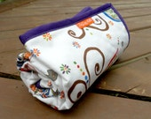 Large Changing Pad - Purple Bordered Minky and Gypsy Wren