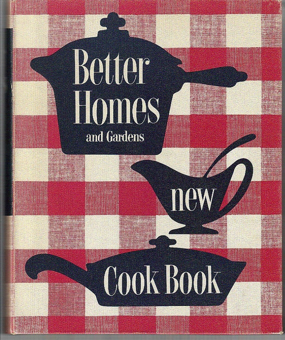 better homes and garden new cookbook 1953 red by perfectyesterdays