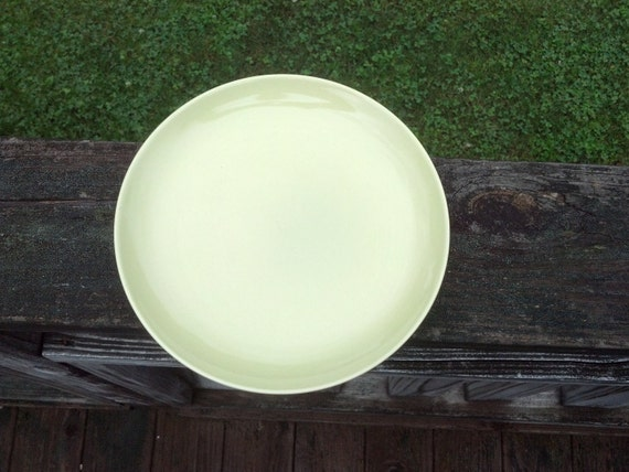 Russel Wright Plate Set Iroquois  Chartreuse Green