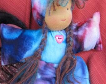 "Custom Waldorf style 11"" Plush doll, gnome, playmate; YOU choose colors!!"