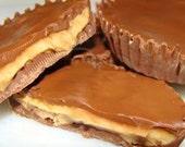 Chocolate Peanut Butter Cups. homemade recipe.