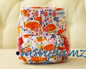 Koi Fish Print  Cloth Diaper with pocket and diaper insert.  YOU PICK size
