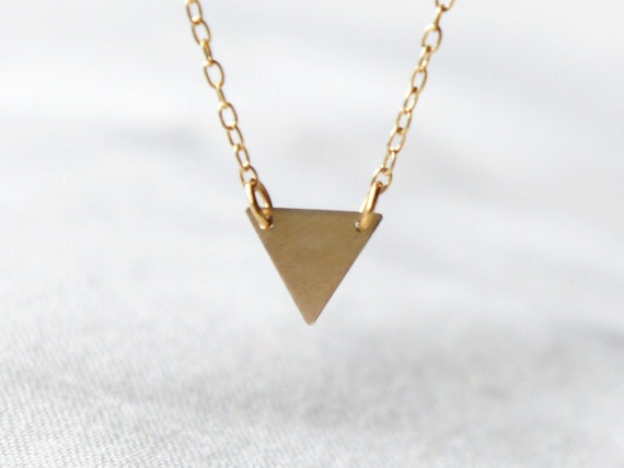 Gold triangle necklace- geometric jewelry- modern minimalist jewelry for everyday by noa noa // BEST SELLING //