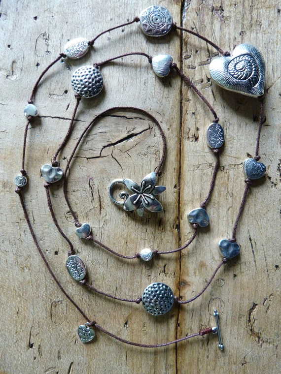 Tibetan silver tone necklace