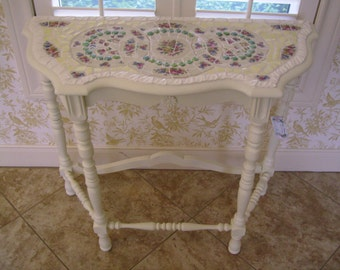 Cottage Chic Antique China Mosaic Table