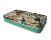 Vintage floral tin box - biscuits and sweets - by NOVI, Italy 1960s