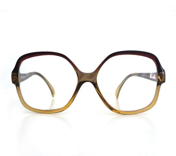 Vintage 70's PERSOL RATTI Italian Eyeglasses Sunglass Frames - Oversized Unisex - Boho Chic