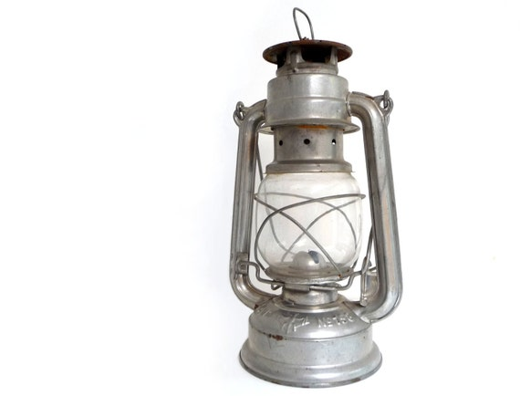 Vintage German Kerosene Lantern - Bat No.158 Lamp, Made in GDR - 1950s
