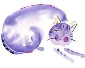 Purple Cat - print