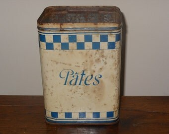 French vintage pasta canister