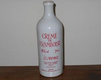 French vintage ceramic liqueur bottle 70cl