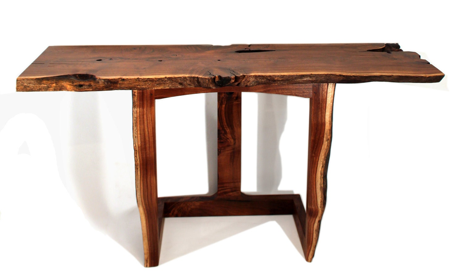 Live Edge Foyer Table : Modern entryway table