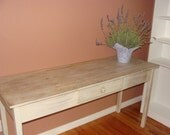 Hand-Painted Sofa Table, Console Table, Desk - Shabby Chic