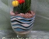 Tall Vase Desert  Terrarium-Cactus Garden
