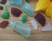 Beach glass natural bottle neck sea glass crafts beach decor jewelry supplies