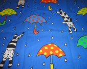 "Cotton fabric ""Raining cats and dogs"
