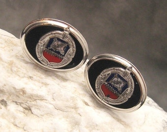 Vintage Cufflinks Industrial College of Armed Forces H088