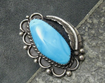 Huge Turquoise Sterling Ring Beautiful H160