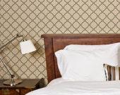 Quatrefoil Trellis: Reusable Wall Stencils for DIY decor - Decorative Stencil