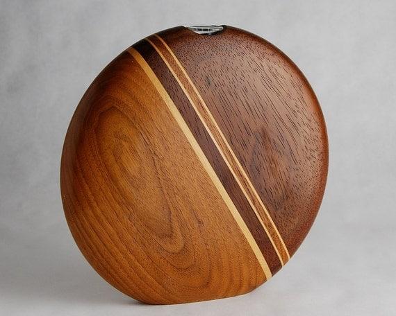 Circular Wood Bud Vase made by Warren Vienneau