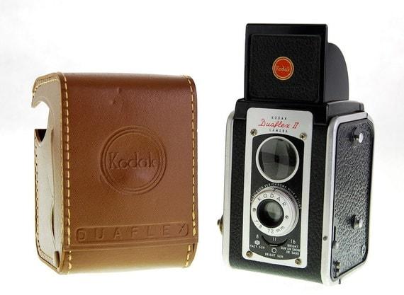 Kodak Duaflex II Camera with Case 1950s