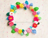 Blossom Crochet Wreath