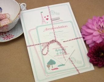 DIY Printable Wedding Invitation Paris Je 'taime - 4 pieces