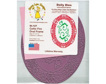 Doily Frame Die - Cheery Lynn - Paper Cutting Tool - for Scrapbooking and Card Making - Celtic Fire Oval